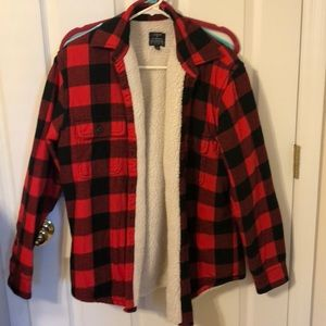 J. Crew Jackets & Coats - Mens red and black plaid jacket